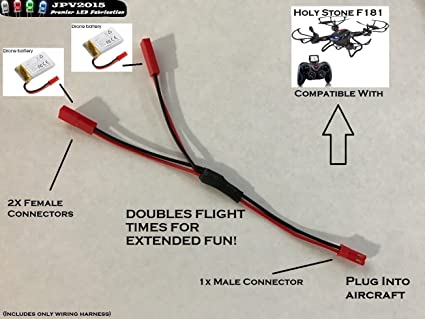 Amazon Jpv2015 Dual Battery Wiring Harness To Double Flight. Jpv2015 Dual Battery Wiring Harness To Double Flight Time 1m2f Plug Play. Wiring. Ghost Drone Wiring Diagram At Scoala.co