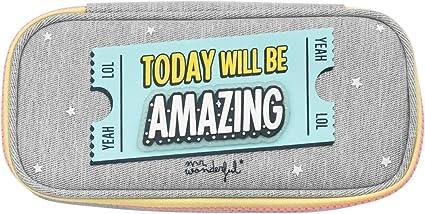Mr. Wonderful Estuche portatodo - Today will be amazing (WOA10203EN): Amazon.es: Oficina y papelería
