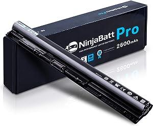 NinjaBatt Pro Laptop Battery for Dell M5Y1K Inspiron 3451 3551 5558 5555 5755 5758 Inspiron 14 3452 15 3000 15 5000 15 5559 HD4J0 GXVJ3 991XP VN3N0 Vostro 3558 - Samsung Cells [4 Cells/2600mAh/38Wh]