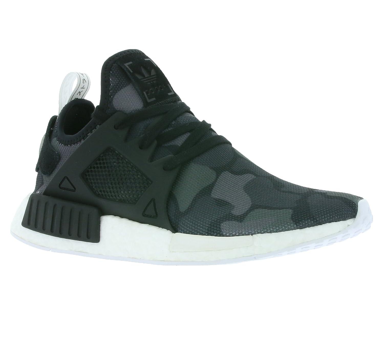 Black Black White Adidas Originals Men's Primeknit NMD_R1 Running shoes (Black)