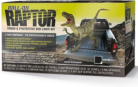 Raptor Black 2 L Coating Roll On, 1 Pack