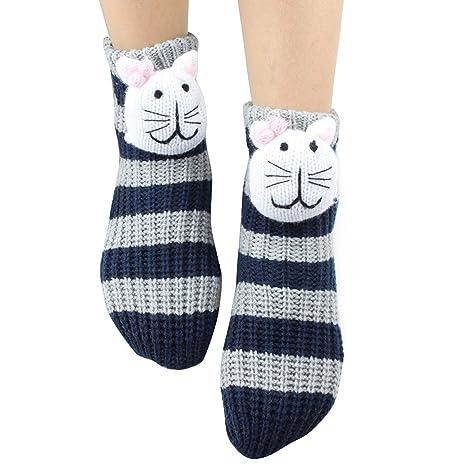 3D Adulto gruesa antideslizante Medias-10 Piso calcetines de dibujos animados de Navidad