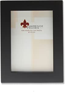 Lawrence Frames Black Wood Picture Frame, Gallery Collection, 2 by 3-Inch