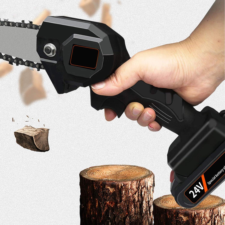potatura motosega per il taglio di legno di rami di albero. sega elettrica da 4 pollici motosega a mano con batteria ricaricabile Mini motosega elettrica senza fili