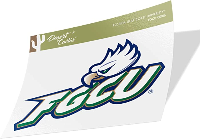 Florida Gulf Coast University FGCU Eagles NCAA Vinyl Decal Laptop Water Bottle Car Scrapbook (Sticker - 00016)