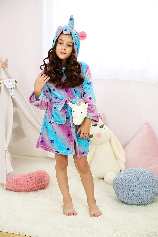 wgde toy Unicorn Hooded Bathrobe Sleepwear Best Toys and Gifts