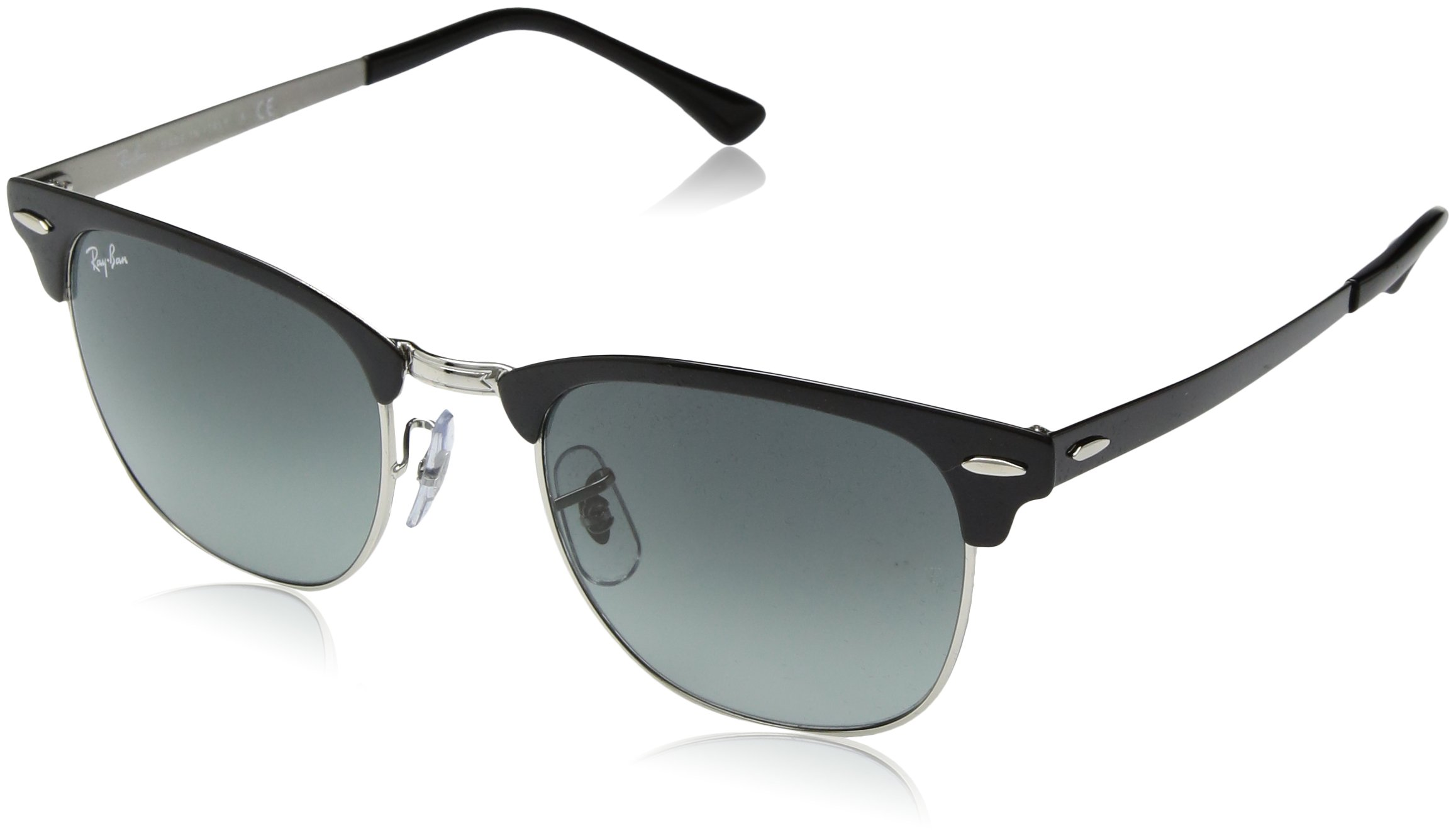 5a92df54c0 Ray-Ban Clubmaster RB3716 9004 71 51mm Silver Top Black   Grey Gradient Lens