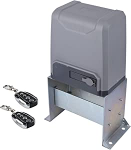 CO-Z Sliding Gate Opener with Wireless Remotes, Roller Gate Opener, Automatic Slide Gate Opener Kit for Fence Driveway, Auto Chain Gate Opener Hardware with Controllers (for 3300 lbs Gate)