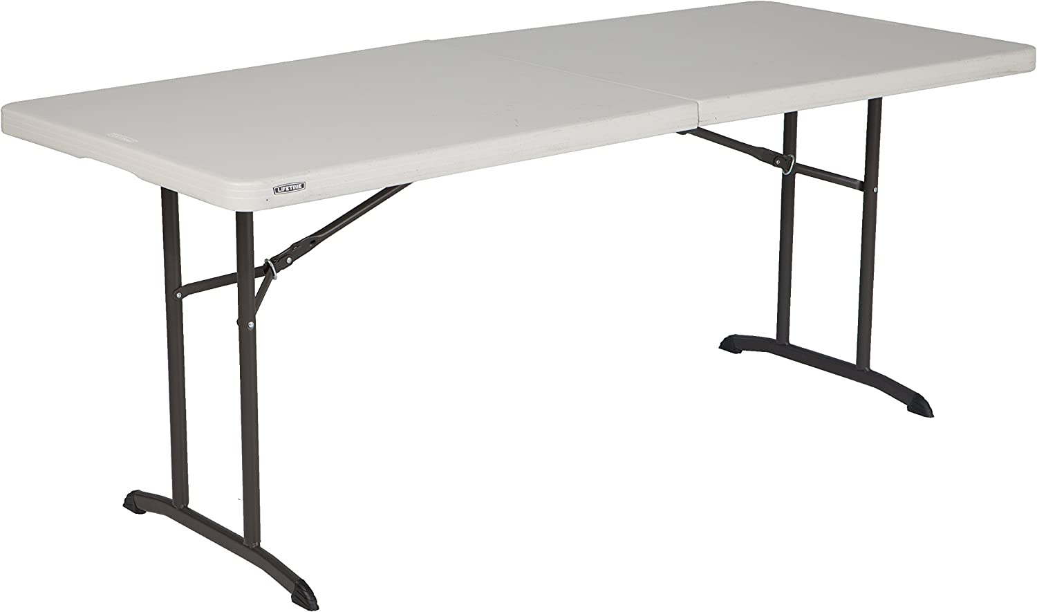 - Amazon.com: Lifetime 80382 Commercial Fold-In-Half Table, 6-foot