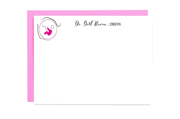 Amazon Personalized Medical Doctor Obgyn Stationery Note Cards