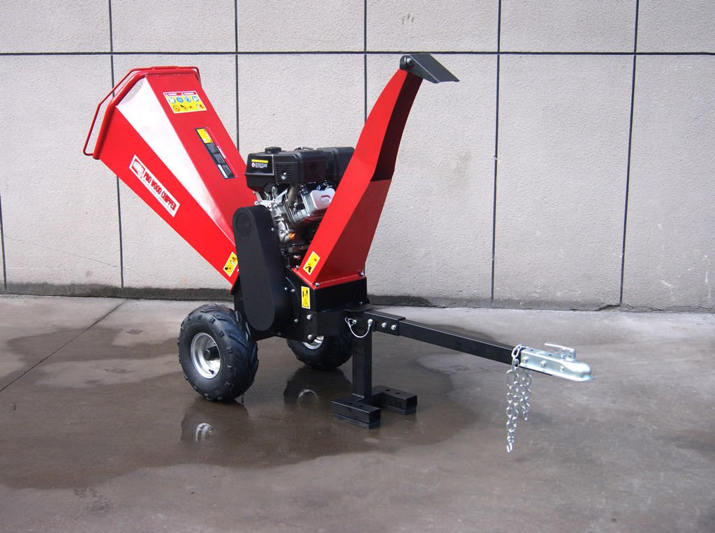 15HP Gasoline Powered Wood Chipper Shredder Mulcher, with Electric Start