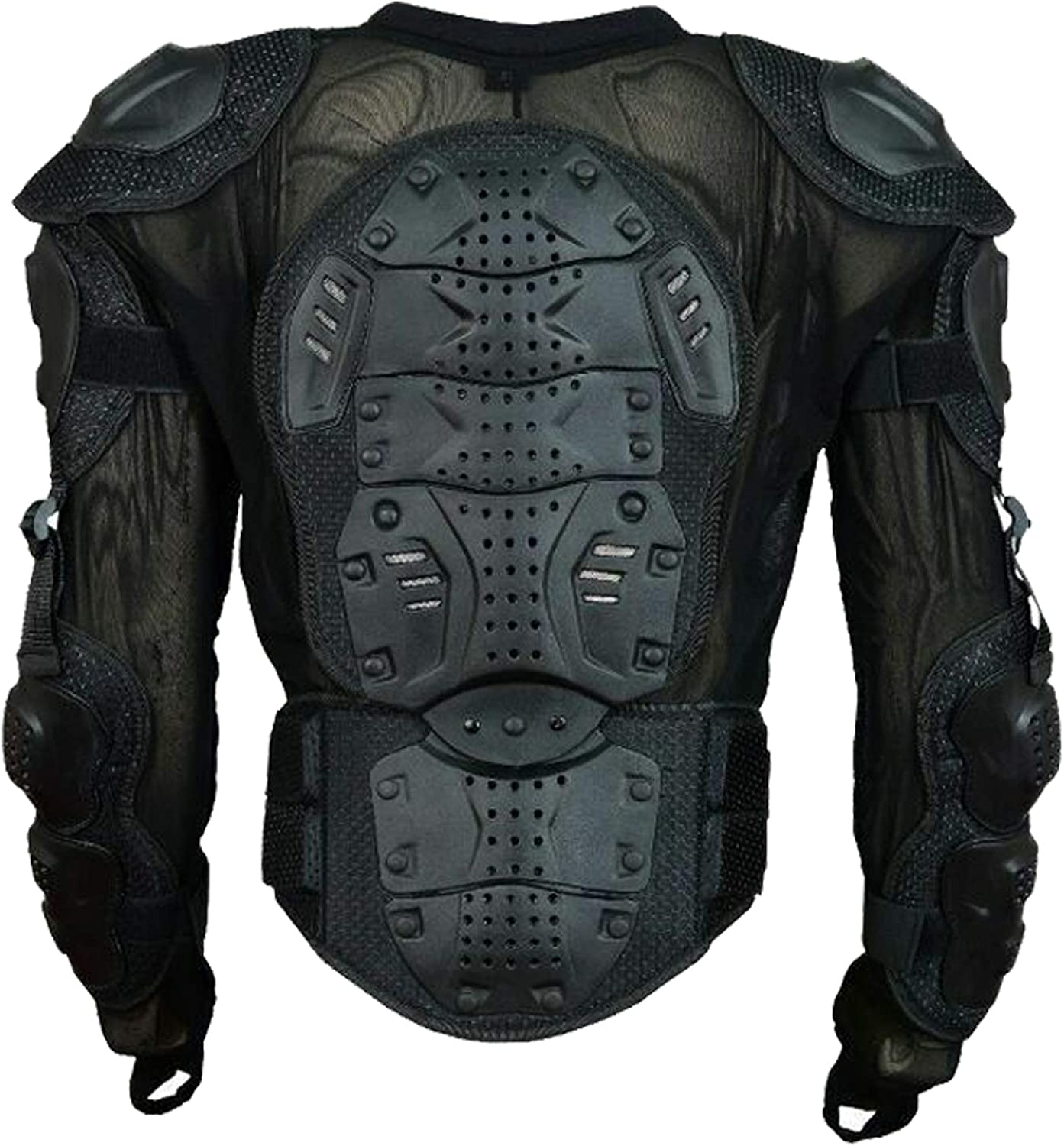 Men/'s Motorcycle Body Protective Jacket Guard Motorbike Motorcross Armour Armor Racing Clothing Protection/ Black 2XL//3XL