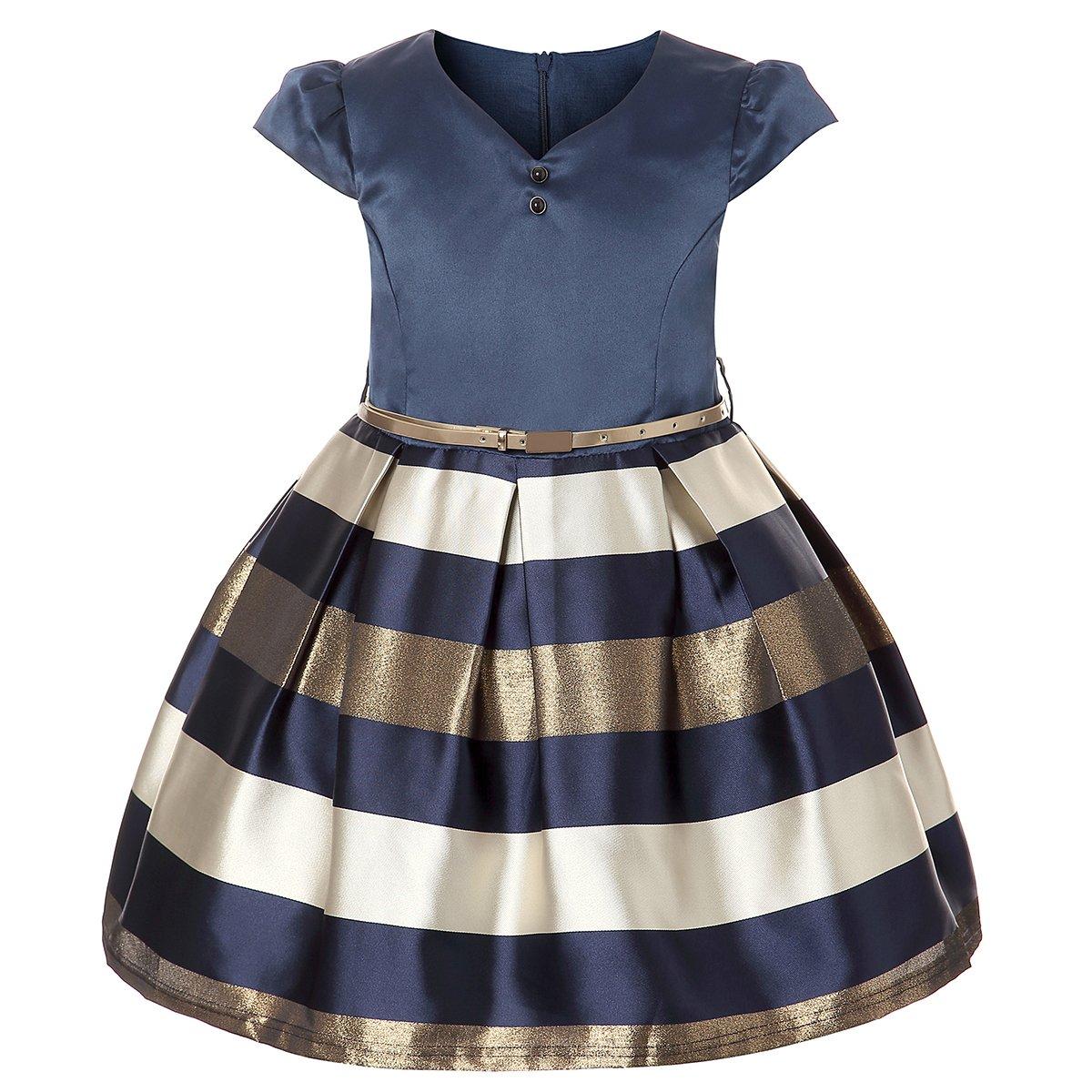 ZaH Girl Dress Kids Ruffles Lace Party Wedding Bridesmaid Dresses