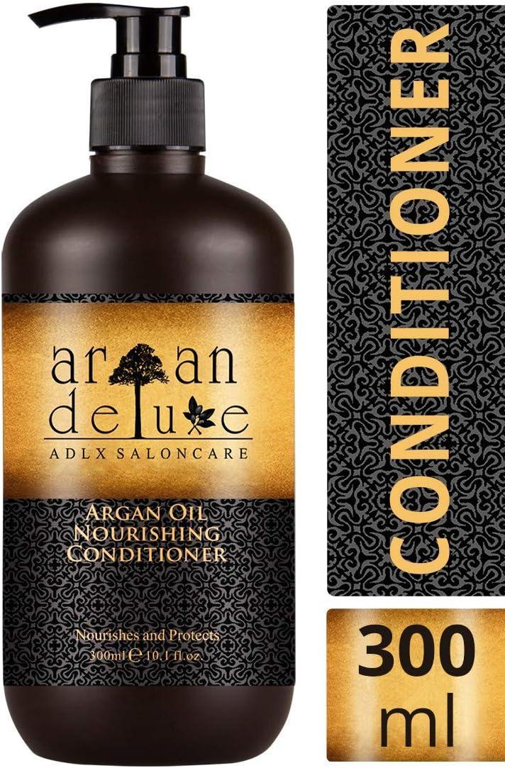 Acondicionador de Aceite de Argán con calidad de peluquería, altamente nutritivo, para una mayor suavidad y brillo, Argán Deluxe, 300ml