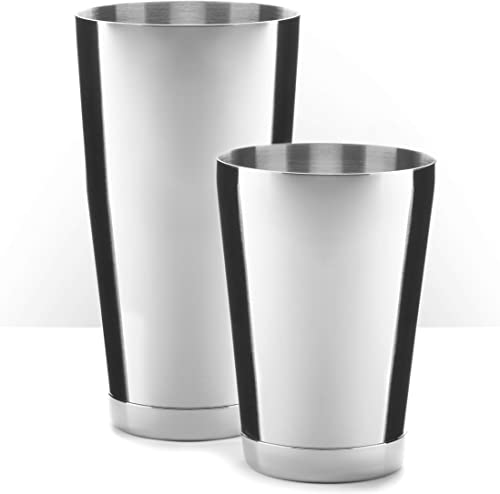 Piña-Barware-Stainless-Steel-Commercial-Bar-Boston-Shaker-Tin-Set---28oz.-&-18oz.-/-Mirror-Polished-(1-Pair)