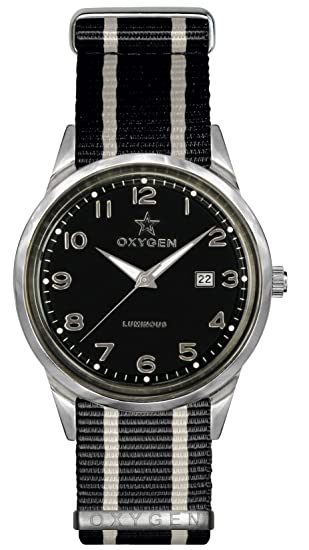University Sports Press EX-SV-MAM-40-NN-BLIVBL - Reloj de cuarzo unisex, correa de nailon color negro: Oxygen: Amazon.es: Relojes