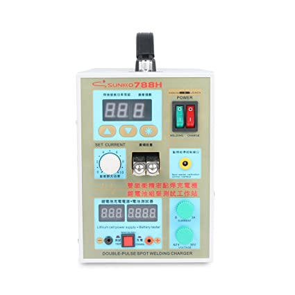 SUNKKO Pulse Spot Welder 788H 18650 battery Welding Machine with LED Battery Testing and Charging Function - - Amazon.com