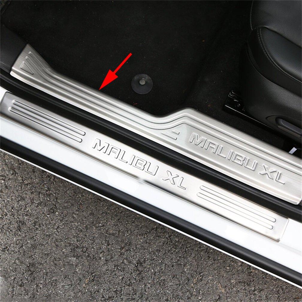 Vesul 4PCs Stainless Steel Door Sill Scuff Plate Guard Door Entry Pad For Chevrolet Malibu Sedan 2016 (Inside Plate)