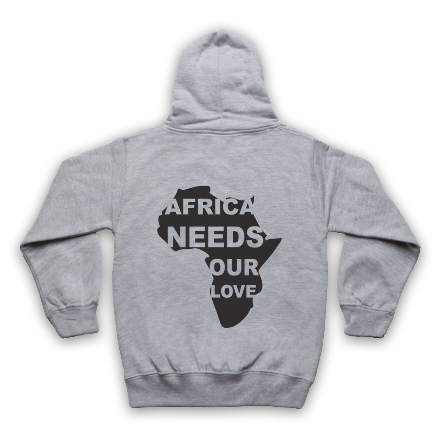 My Icon Little Boys Africa Needs Our Love Protest Slogan Kids Zip Hoodie