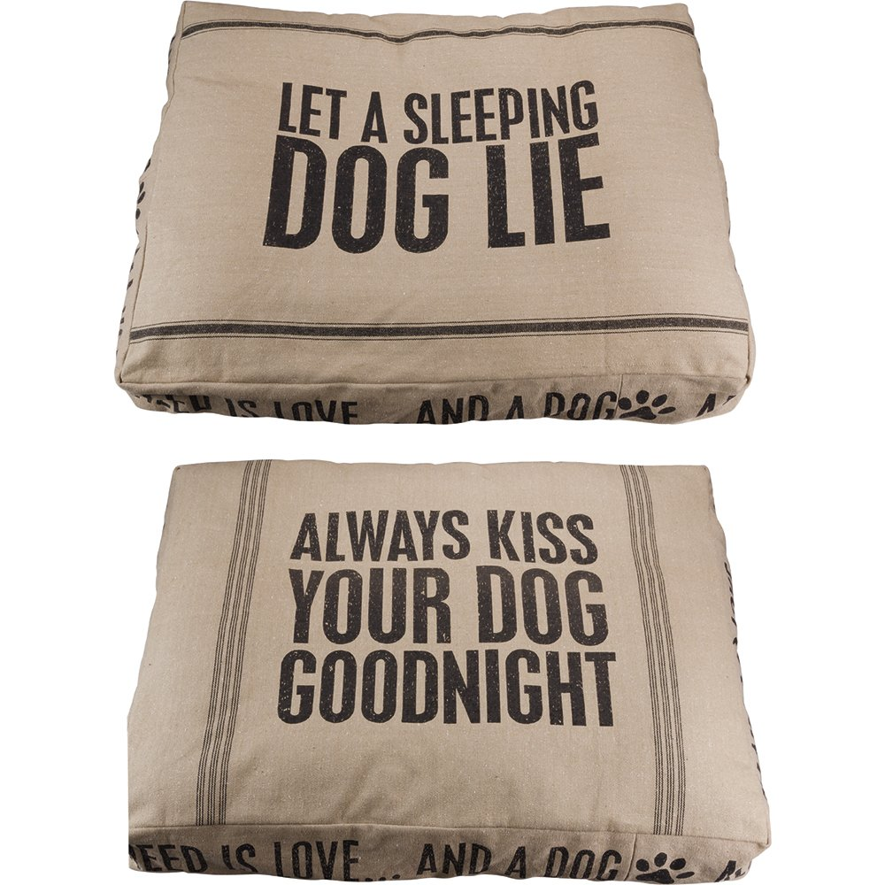 Primitives by Kathy Double-Sided Cotton Kiss Goodnight/Sleeping Dog Bed, Small