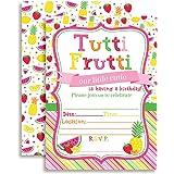 Tutti Frutti Birthday Party Celebration Fill In Invitations set of 10