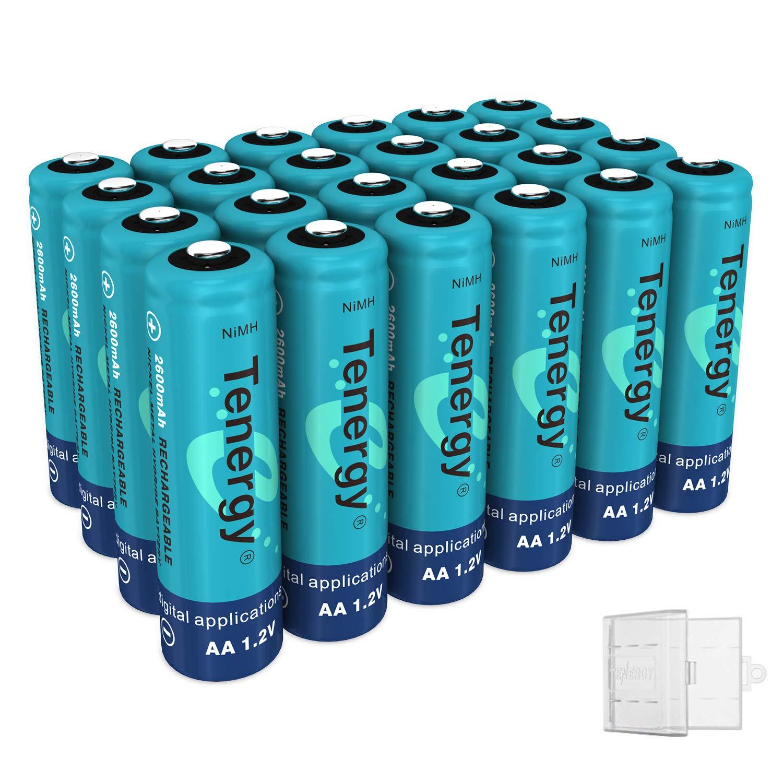 Tenergy NiMH AA, 1.2V AA, High Capacity 2600mAh 24 Pack Double A Cell