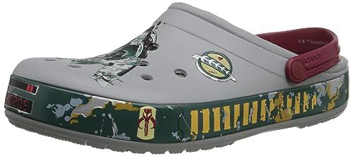 Crocs CB Star Wars Boba Fett - Zuecos de sintético para hombre, color gris (