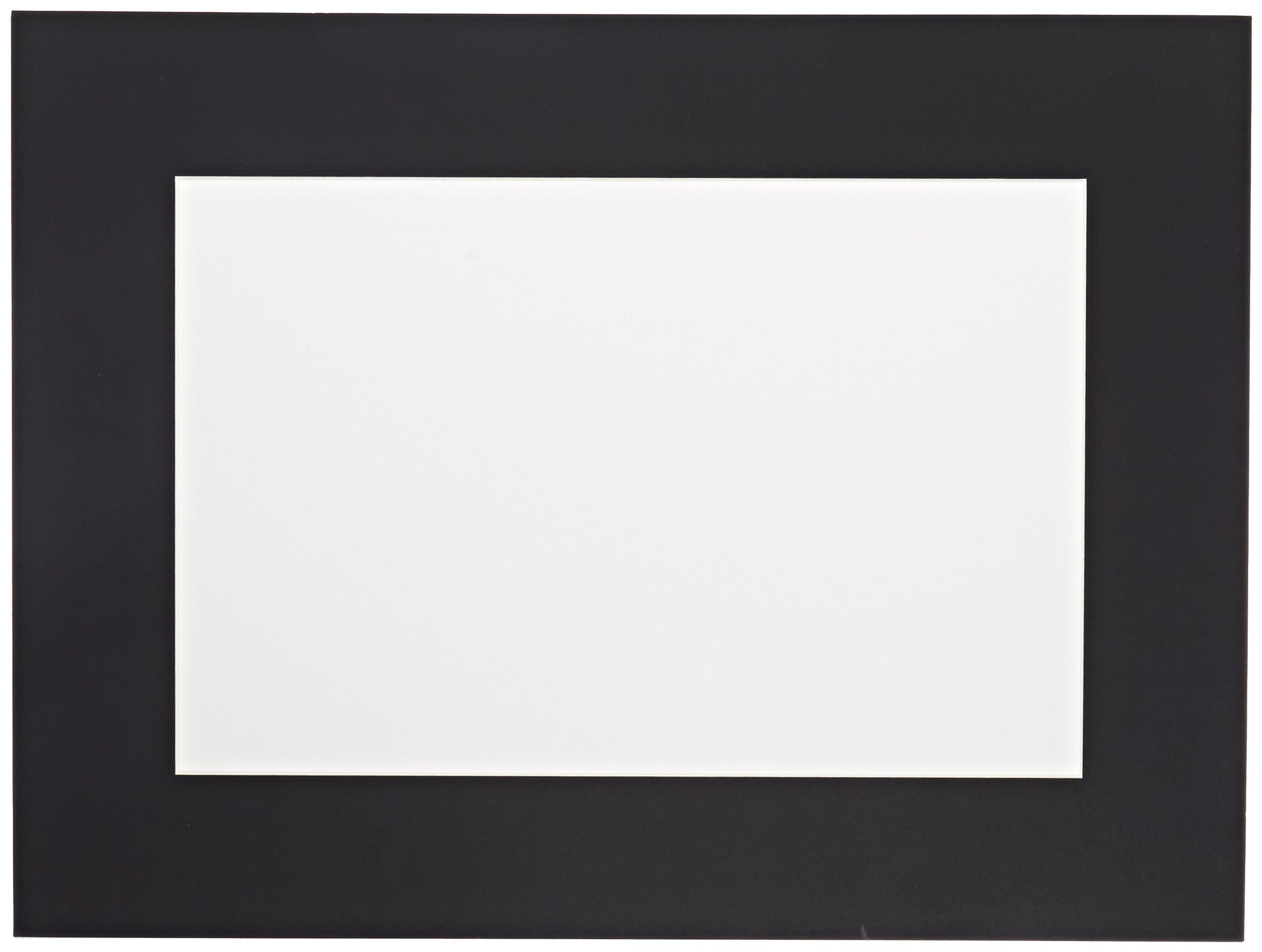 Sax Premium Pre-Cut Mat, 18 x 24 Inches, Black, Pack of 10