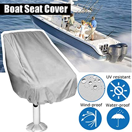 Admirable Essort Boat Seat Cover Outdoor Waterproof Polyester Folding Pedestal Pontoon Captain Boat Bench Chair Seat Cover For Helm Bucket Fixed Back Seat Machost Co Dining Chair Design Ideas Machostcouk