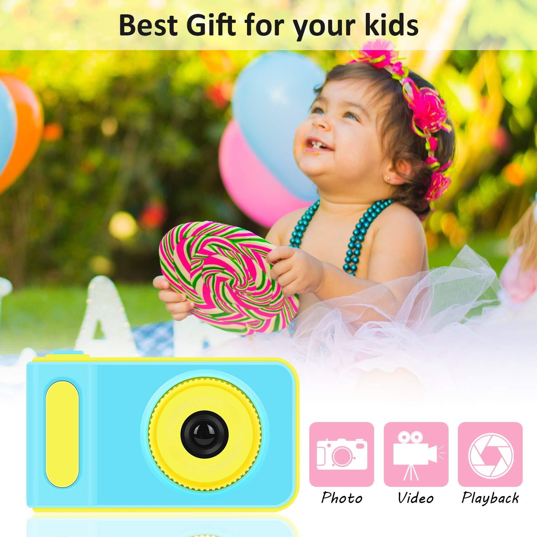 LOXROZ Kids Digital Camera Mini 2 Inch Screen Children's Digital Camera with Card Reader & 16G Micro SD Card (Blue) by LOXROZ (Image #5)