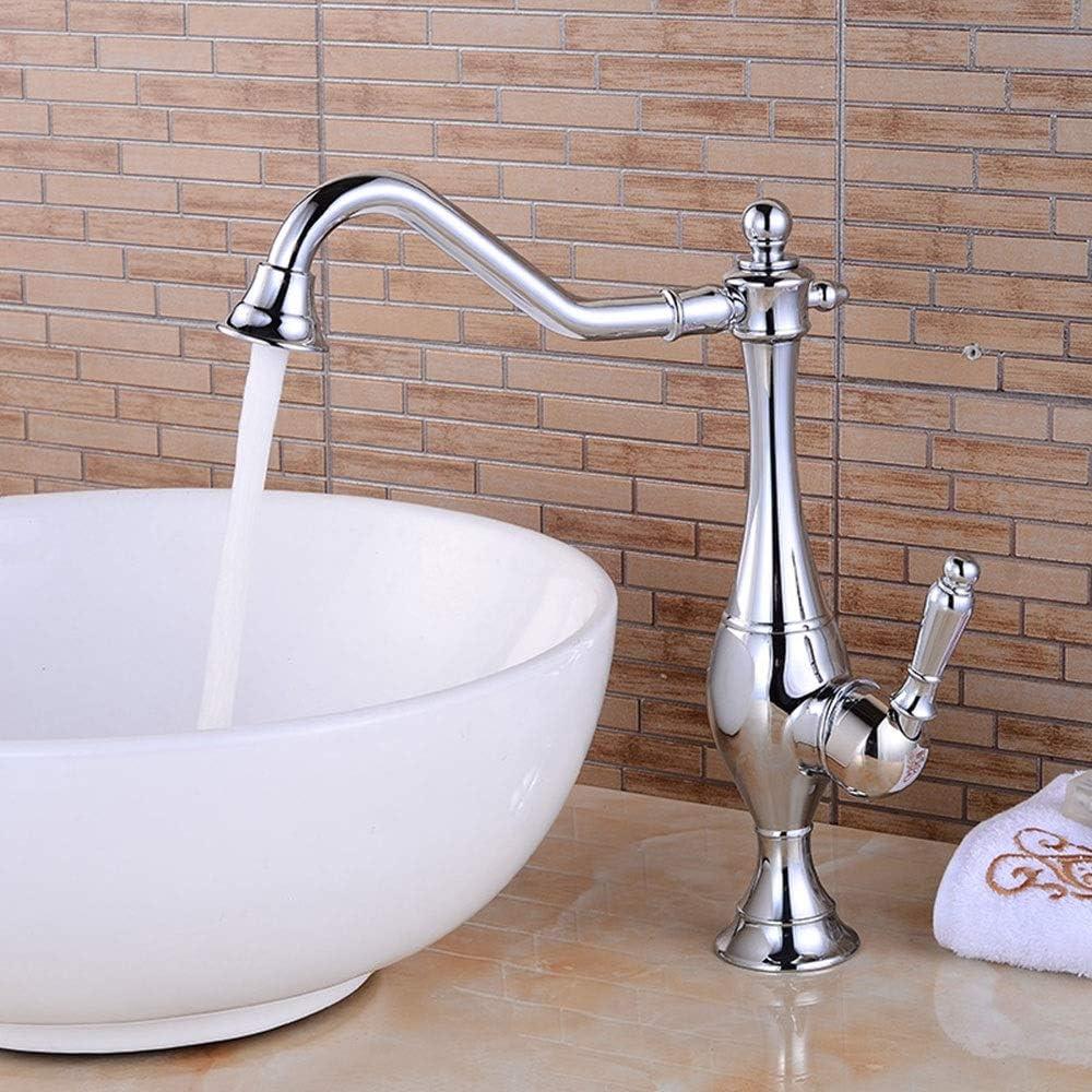 銅、クローム仕上げ、キッチンの浴室の蛇口、レンチスイッチ、クイックドレーン、防滴、セラミックスプール、インレットおよびアウトレットパイプ径G1 / 2 インストールが簡単