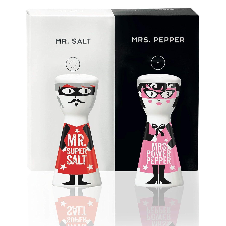 Salt /& Mrs mit trendigen Motiven RITZENHOFF Mr Pepper Salz- und Pfefferstreuer von Kathrin Stockebrand aus Porzellan