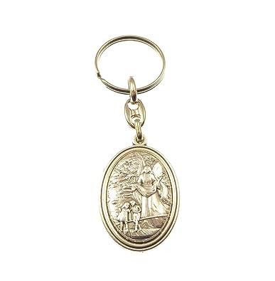 Laverty - Angel de plata medalla metal rosario llavero ...