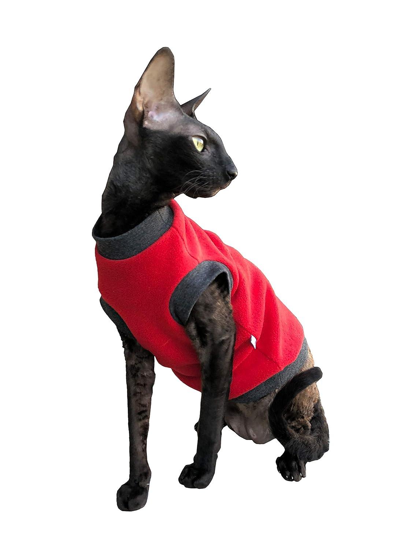 Kotomoda Katzen Kleidung Pullover Rotte Vlies