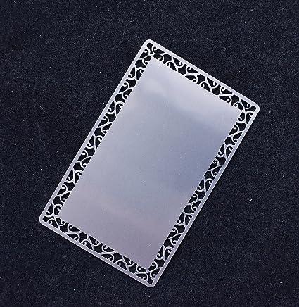 retermit 100pcs sublimation metal business cards laser engraved metal business cards sublimation blanks 34x2 - Metal Business Cards