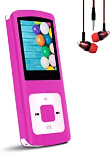 """Hotechs Support TF Cards Slim 1.8"""" LCD Mp3 Mp4 Player Media/Music/Audio Player with Noise Isolation Wired Earbuds"""