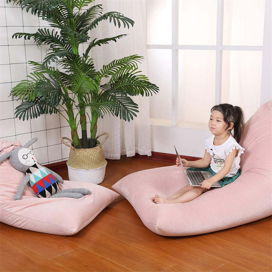 Stuffed Animal Bean Bag Chair for Kids and Adults. Luxury Velvet Stuffed Seat - Cover ONLY(Sweet Pink 200L/52 Gal) by Jorbest (Image #3)
