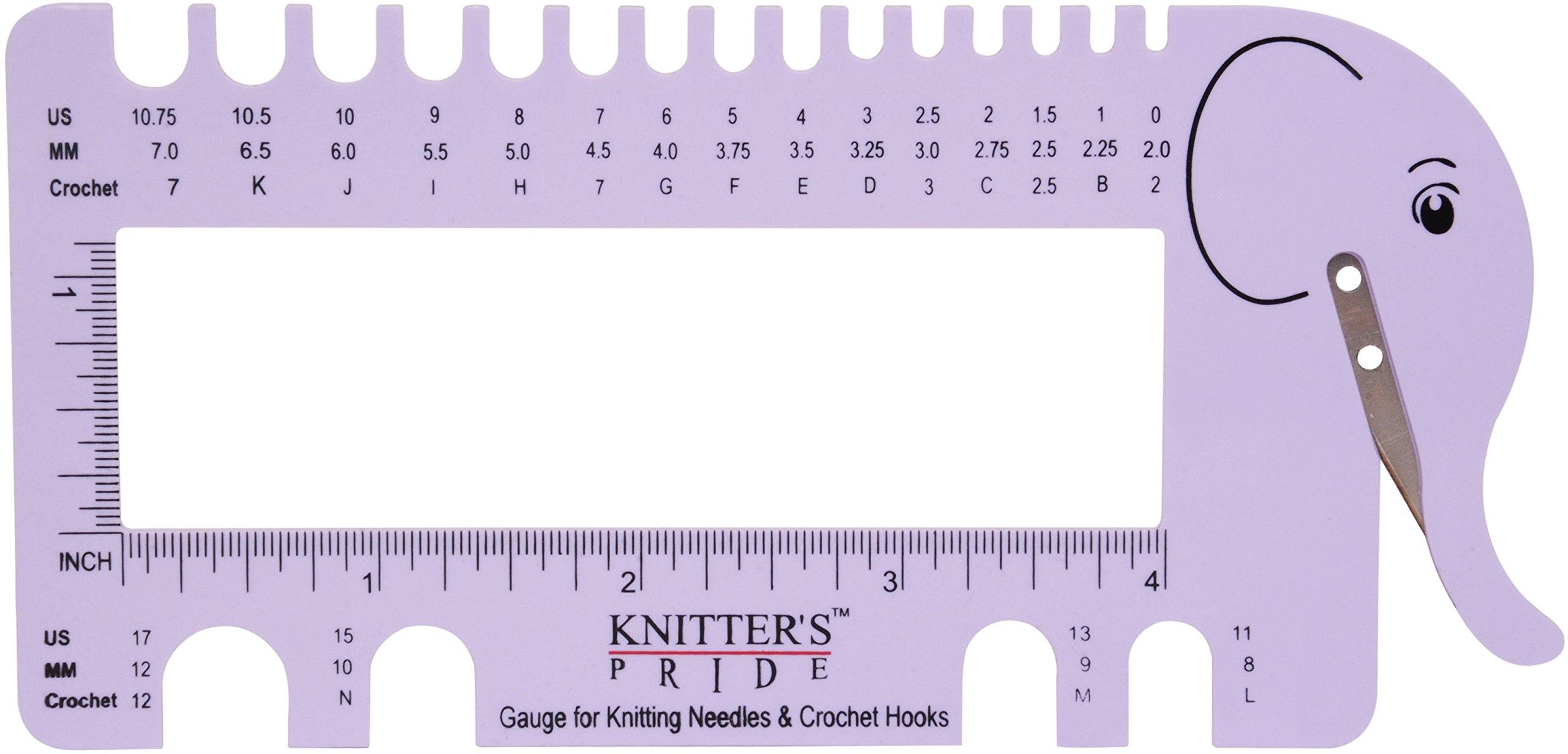 Knitters Pride - Kp800224 Vista de aguja y Crochet Sizer ...