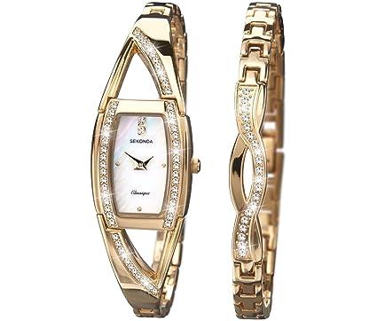 Sekonda Classique White Dial Gold Bracelet La s Watch and