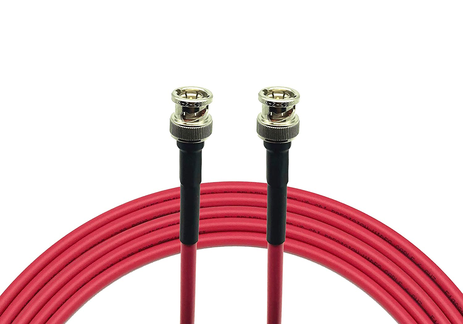 AV-Cables 3G/6G HD SDI Mini RG59 BNC Cable - Belden 1855a (15ft, Red)