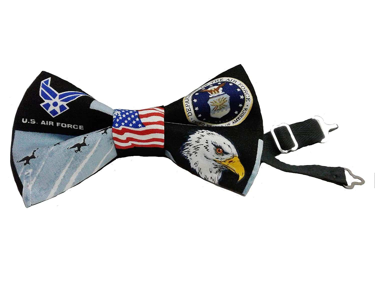 USA Military Air Force Patriotic Bow Tie Adult