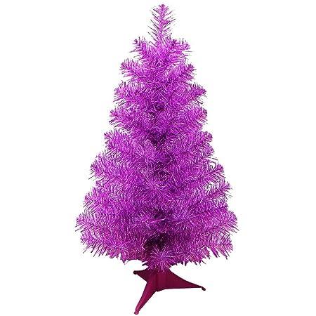 24 mini artificial tinsel desk top christmas tree pink tinsel