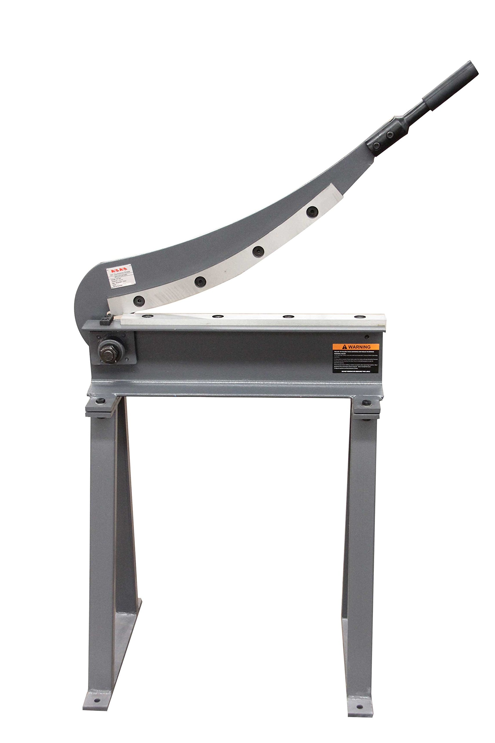 KAKA Industrial HS-500 Sheet Metal Plate Cutting Shear, 20inch Width 16Ga Manual Guillotine Shear With Stand