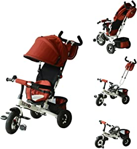 Qaba 2-in-1 Baby Tricycle Stroller