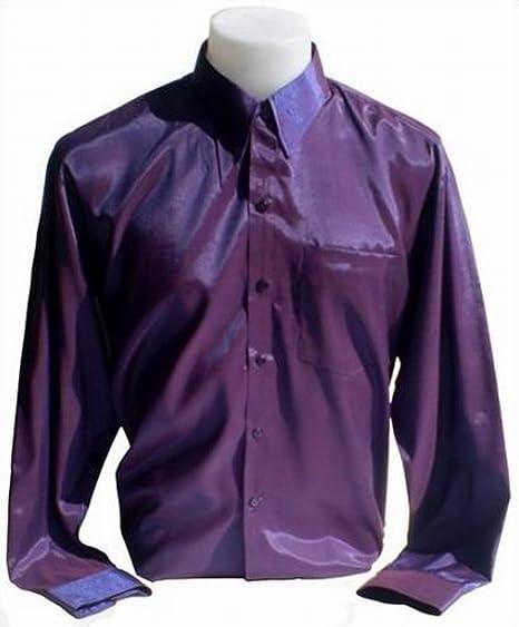 Camisa de seda tailandesa para hombre, manga larga, color púrpura, talla XXL: Amazon.es: Deportes y aire libre