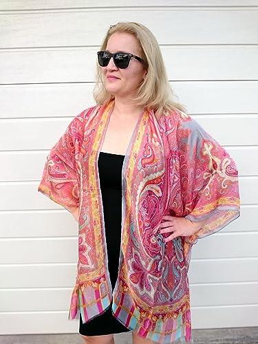 Amazoncom Kimono Robe Orange Silk Jacket Bridesmaid Dressing