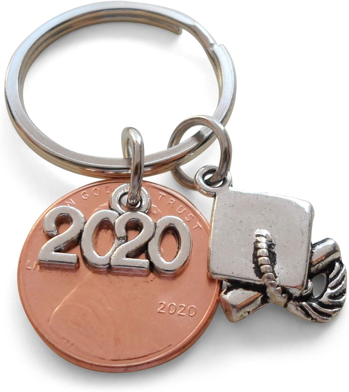 College Graduation High School Graduation 2020 Lucky Penny Keychain Graduation gift
