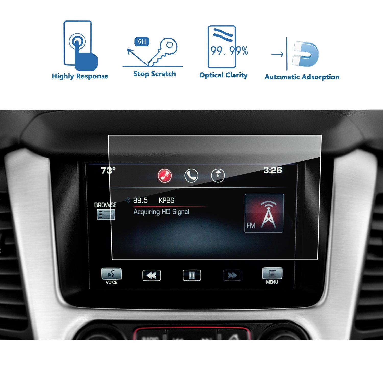 LFOTPP GMC Yukon XL 8 Inch IntelliLink 2015-2018 Car Navigation Screen Protector, [9H] Tempered Glass Center Touch Screen Protector Anti Scratch High Clarity