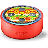 Skin Decal Vinyl Wrap for Amazon Echo Dot Kids Edition Stickers Decals Fun - Daisies Flowers Yellow Green