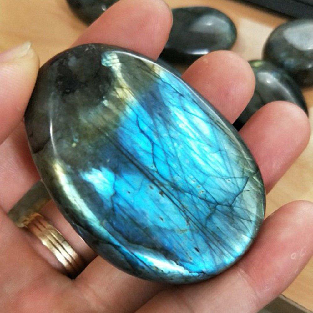 Gold Happy Natural Crystal Moonstone Polished Quartz Labradorite Ore Specimen Stone Healing Beautiful arts and crafts